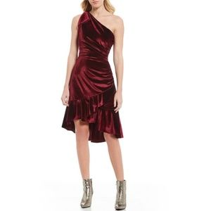 Chelsea & Violet Dresses - 🎉😍SALE | NWT $128 Wine One-Shoulder Velvet Dress